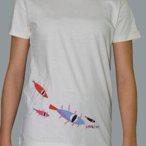 Anifilm 2019, bílé bavlnění tričko s rybkami