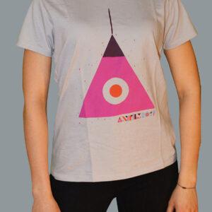 Anifilm 2019, šedé tričko s trojuhelníkem