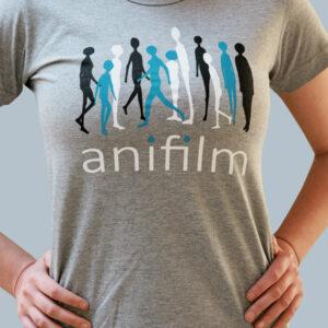 Anifilm 2016, šedé tričko s potiskem